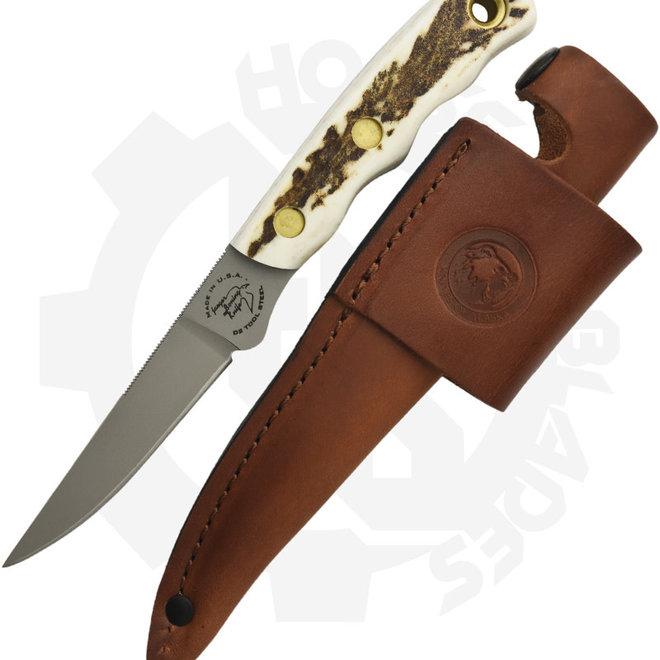 Knives of Alaska 00115FG Jaeger Boning  Stag Fixed Blade Knife