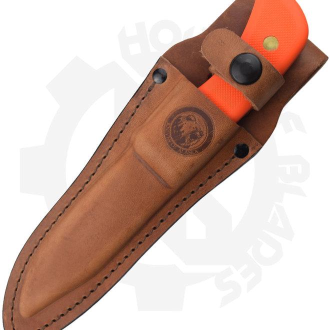 Knives of Alaska Trekker 00177FG Elk Hunter Orange Suregrip Fixed Blade Knife