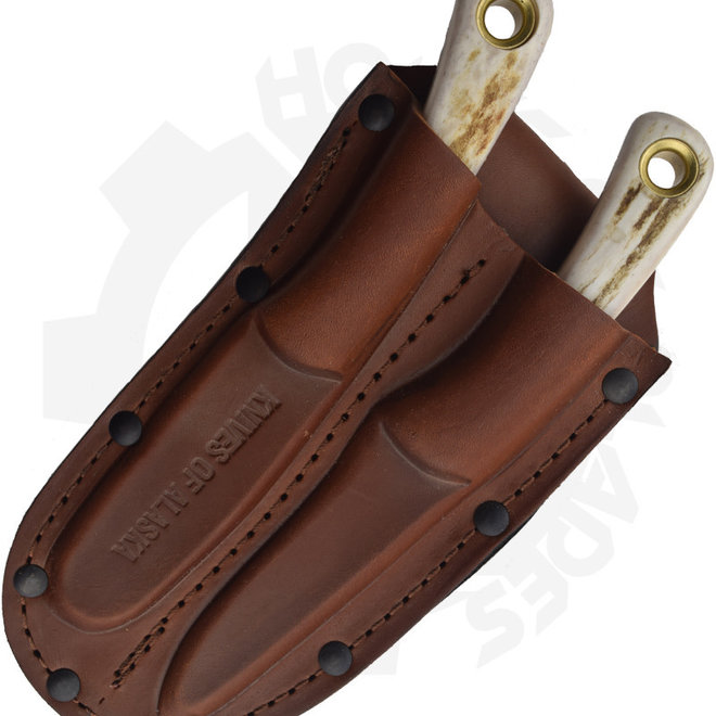 Knives of Alaska 00101FG Muskrat/Cub Combo Stag Fixed Blade Knife