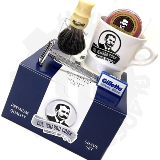 Colonel Ichabod Conk 222-DE 6 Piece Gift Set Shaving Set