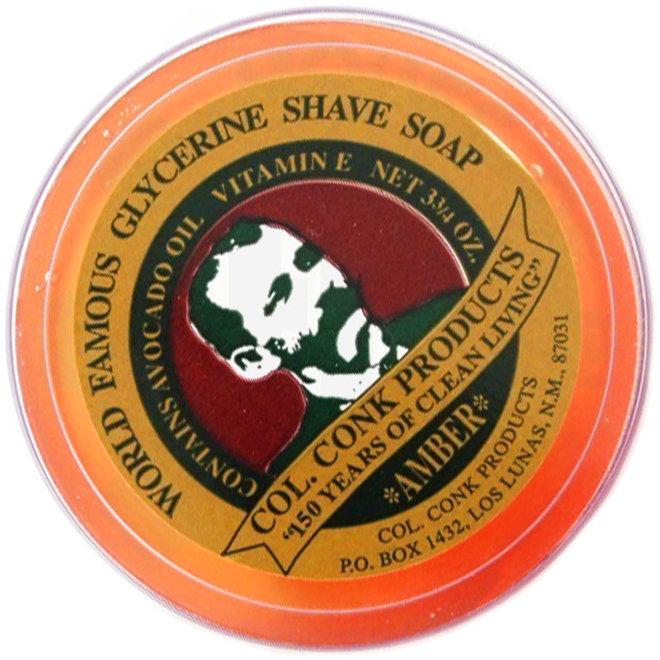 Colonel Ichabod Conk 123 Shave Soap 3.75 oz. Amber Accessory - Shaving