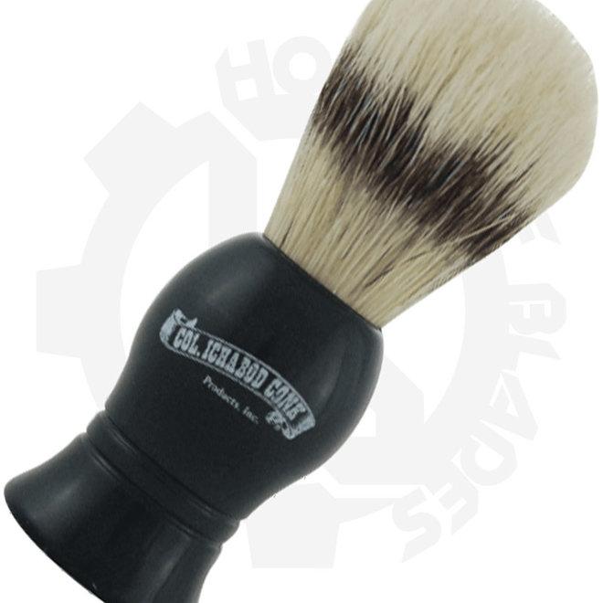 Colonel Ichabod Conk 6 Boars Hair Black Shaving Brushes