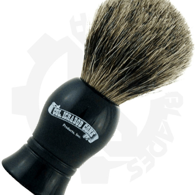 Colonel Ichabod Conk 1001 Standard Pure Badger Black Shaving Brushes
