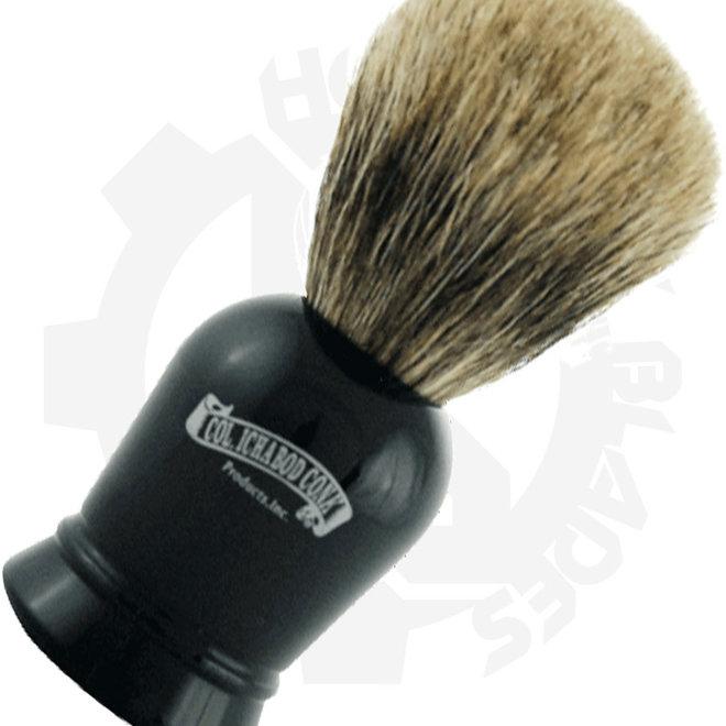 Colonel Ichabod Conk 925 Pure Badger Faux Ebony Shaving Brushes