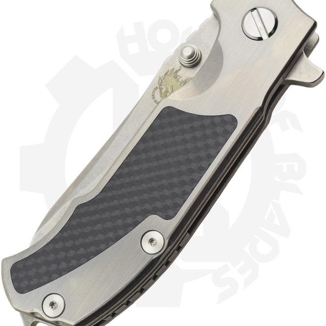 Hinderer Knives K2008STS00 MP1 Rick Hinderer Black & Silver Manual Flipper Knife
