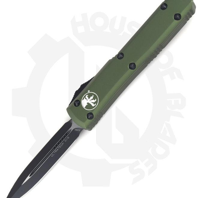 Microtech Ultratech D/E Black Std 122-1OD - OD Green (Auto OTF Knife)