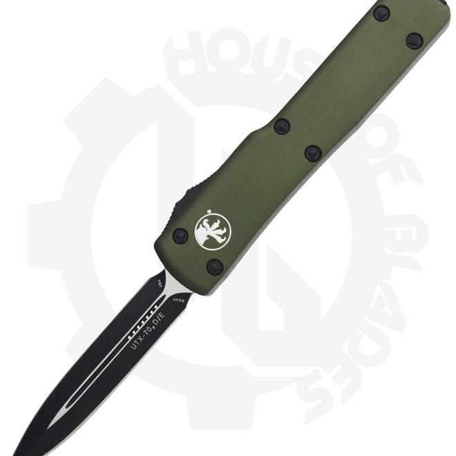 Microtech UTX-70 D/E Standard 147-1OD - OD Green (Auto OTF Knife)