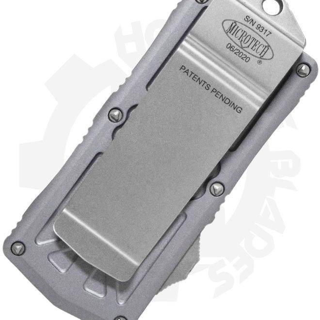 Microtech Exocet Stonewash Standard 157-10GY - Gray (Auto OTF Knife)