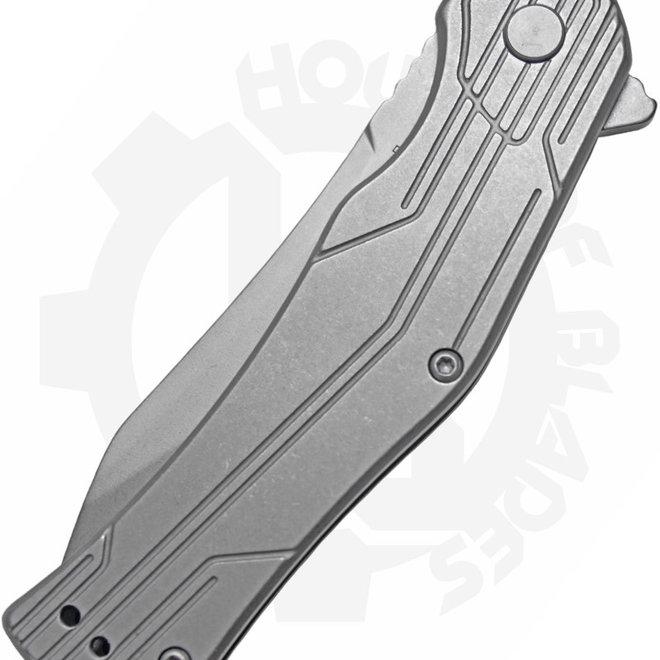 Kershaw Husker 1380 - Grey (Manual Flipper Knife)