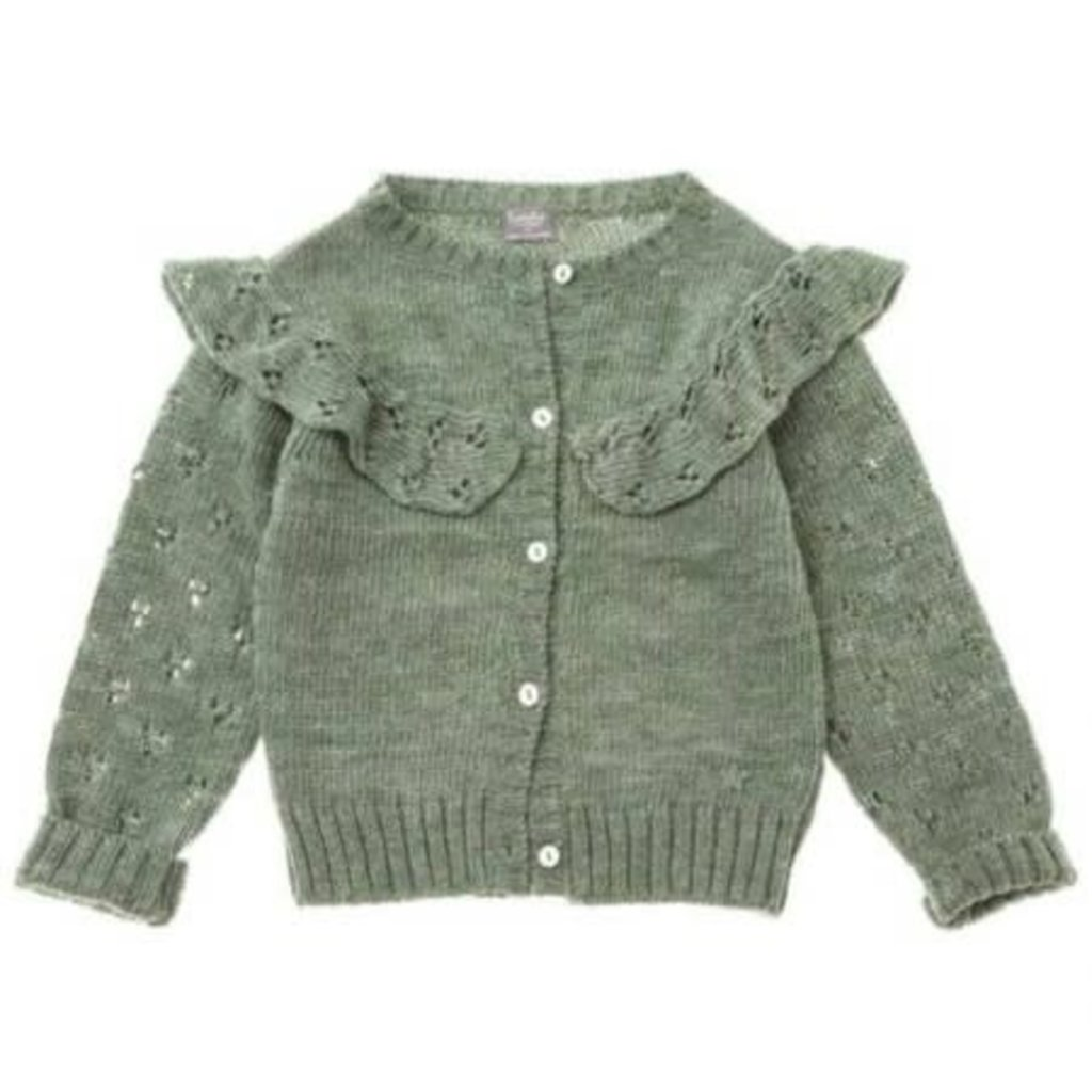 tocoto vintage Knitted cardigan with lace