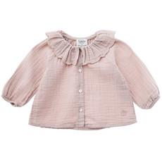 tocoto vintage Plain blouse with flounced neck
