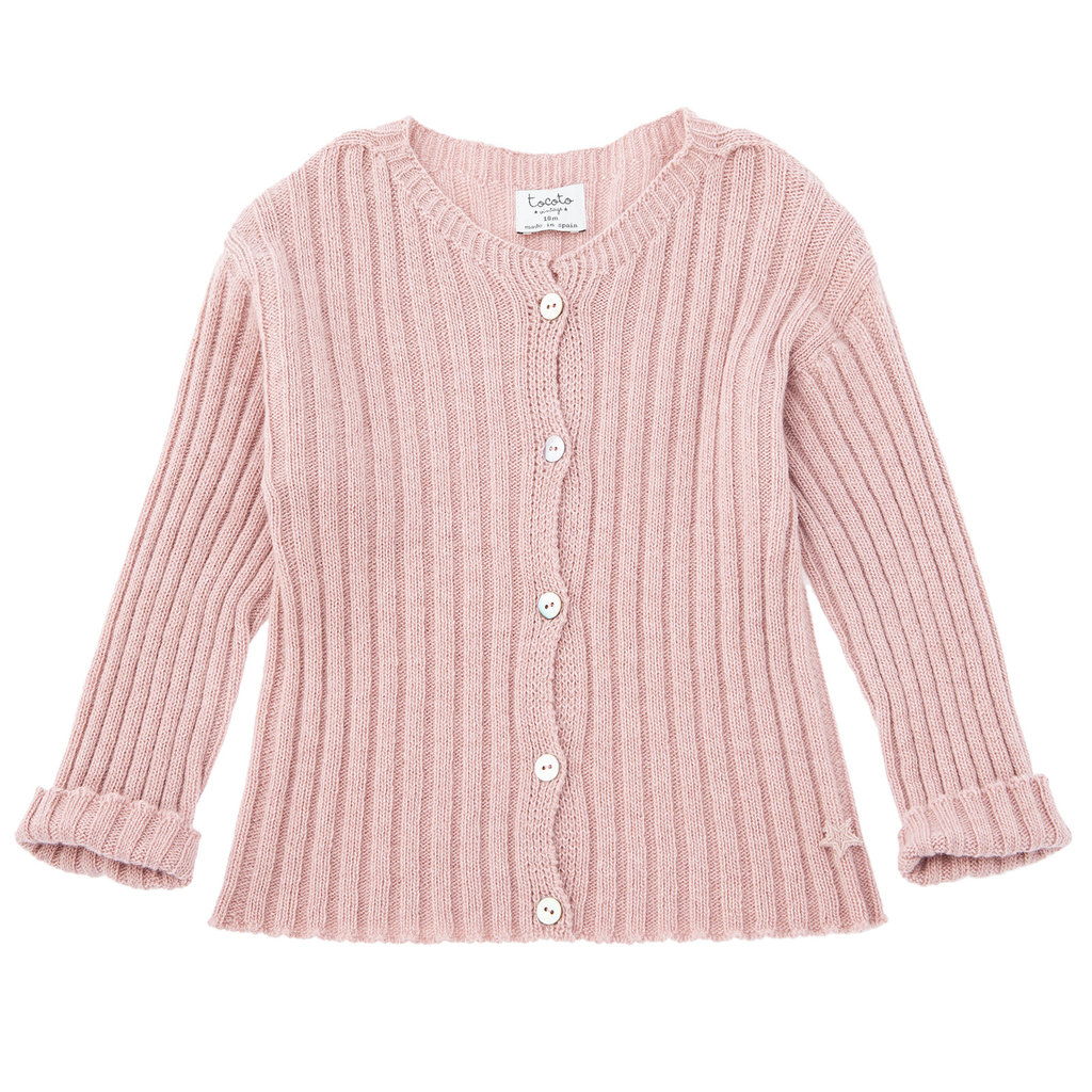 tocoto vintage Ribbed knit Cardigan