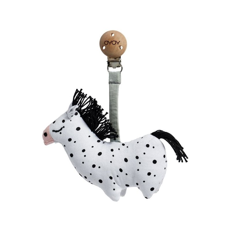 OYOY Baby Carrier Clip Horse White Black
