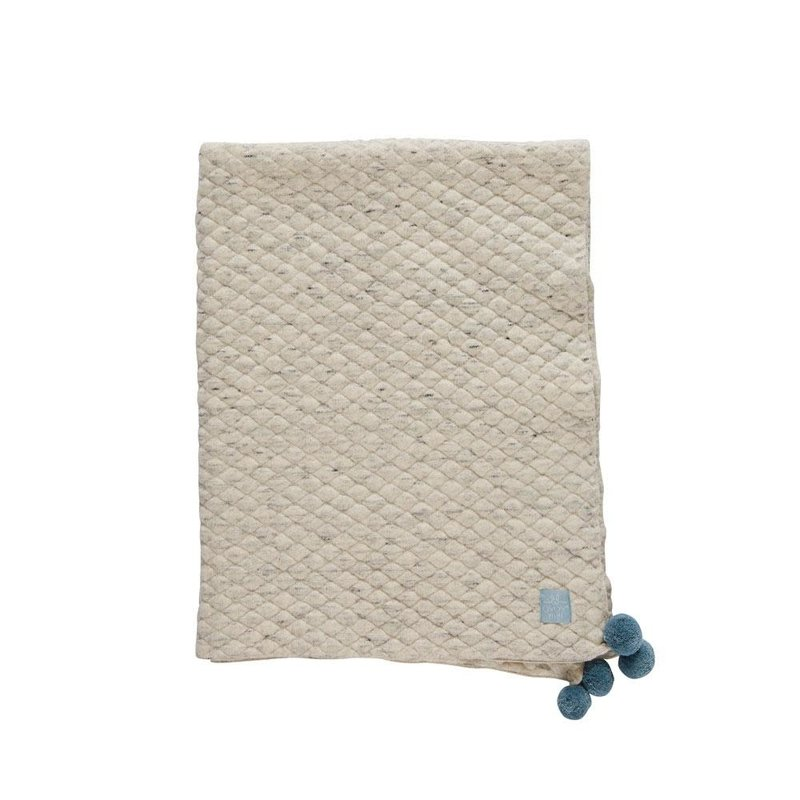 OYOY Kami Baby Blanket Light Grey
