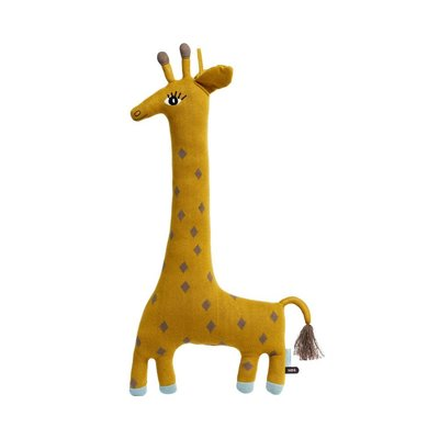 OYOY Noah Giraffe Cushion Curry