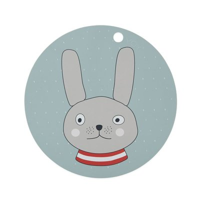 OYOY Placemat Rabbit Minty