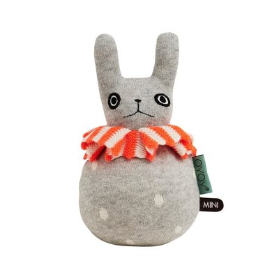 OYOY Roly Poly Rabbit Light Grey