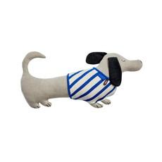 OYOY Slinkii Dog Cushion Beige Dark Blue