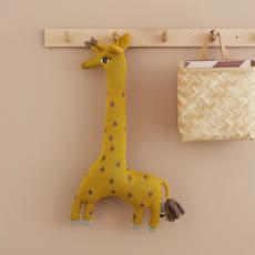 OYOY Noah Giraffe Cushion Curry