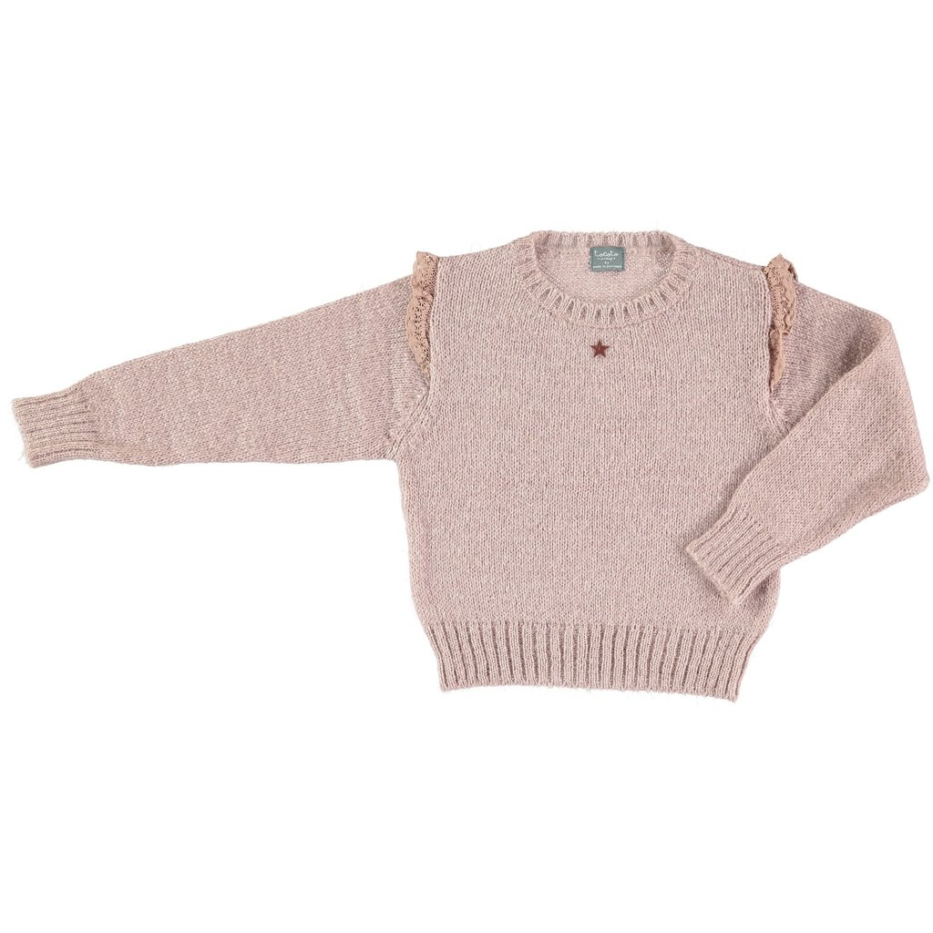 tocoto vintage Knitted Sweater with Lace