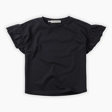 Sproet & Sprout Grey Ruffle T-Shirt