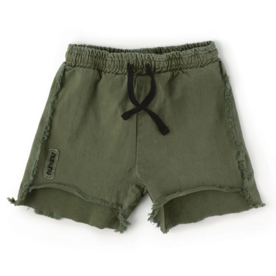 nununubaby 2 lengths military sweatshorts