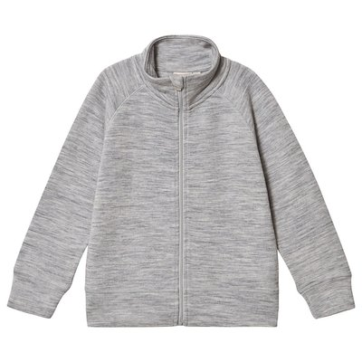 Kuling Wool Terry Cardigan Grey Melange