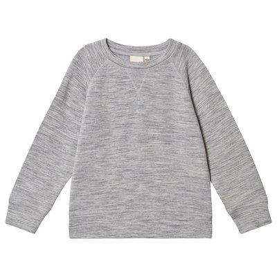 Kuling Wool Sweatshirt Grey Melange