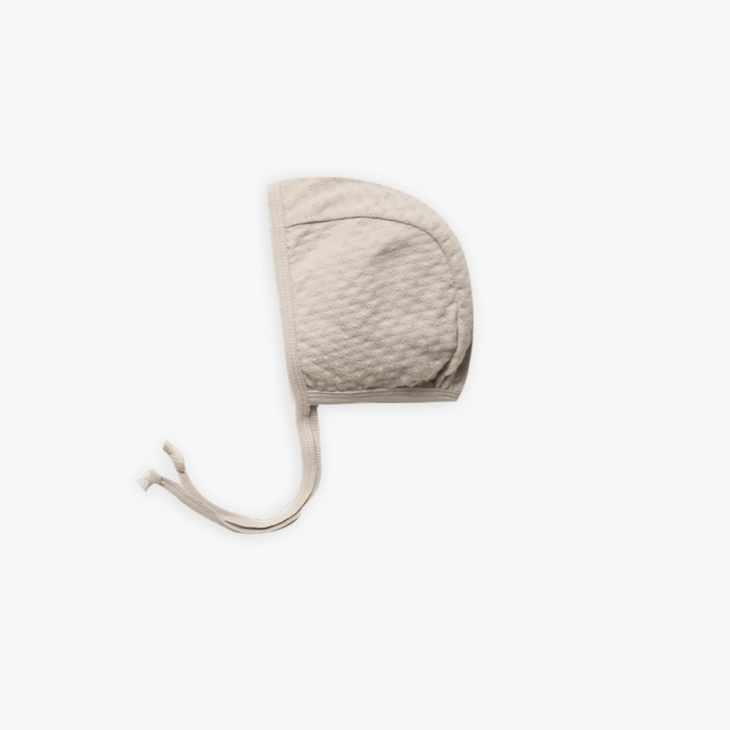 Quincy Mae  Pointelle baby bonnet