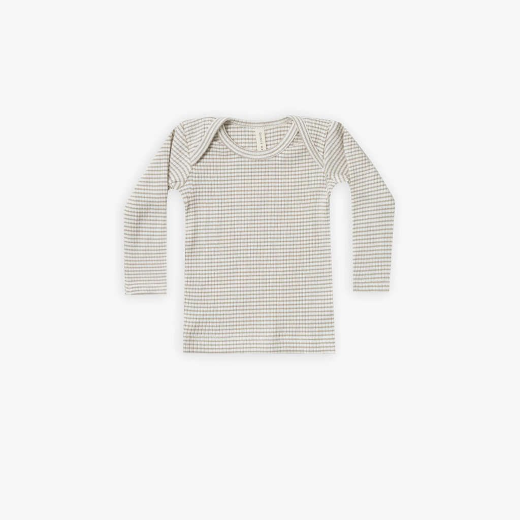 Quincy Mae Ribbed Longsleeves Lap Tee