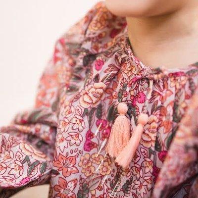 Bonheur Du Jour Printed pompom blouse