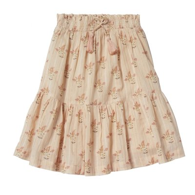 Bonheur Du Jour Mid Length Skirt with Flowers and pompom