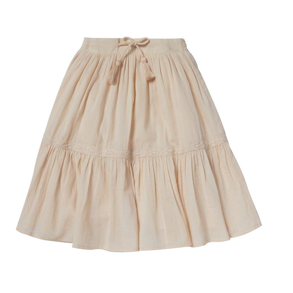 Bonheur Du Jour Skirt with smocks and pompom