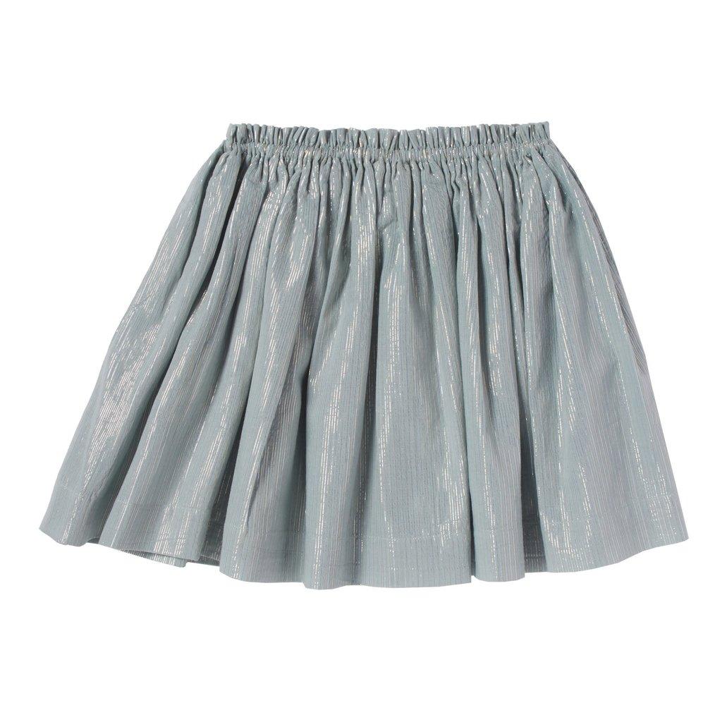 Bonheur Du Jour Metallic Stripped skirt