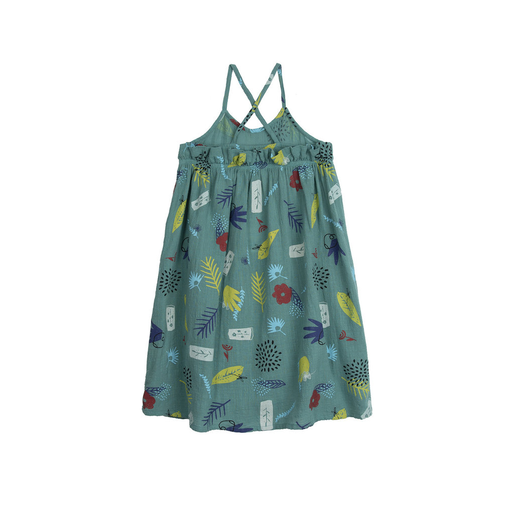 Barn of Monkeys Flowers Midi Dress