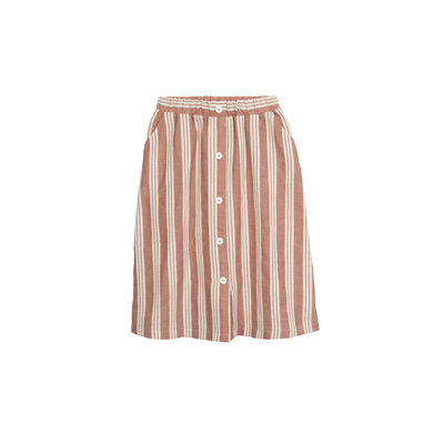 Barn of Monkeys Striped Midi Skirt