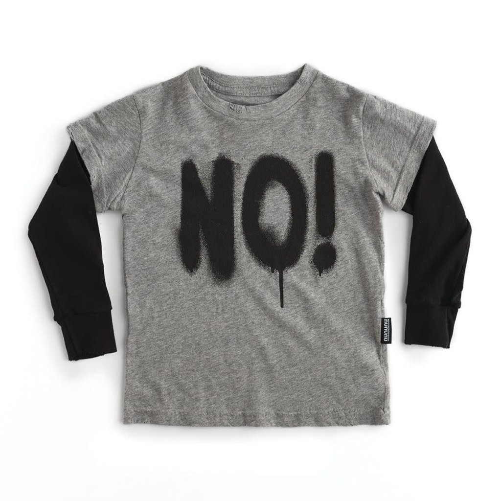 nununubaby sprayed no! t-shirt