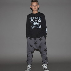 nununubaby french terry star baggy pants