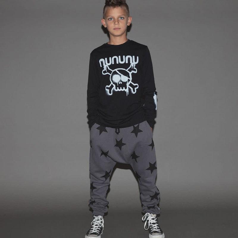 nununubaby french terry star baggy pants