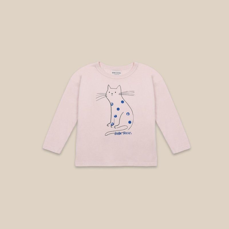 bobo choses Cat Long Sleeves T-Shirt