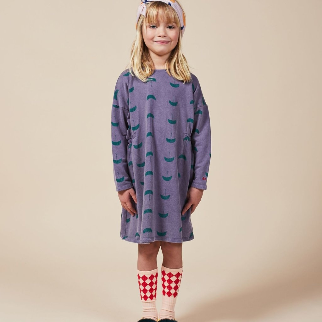 bobo choses Umbrella All over Fleece Dress