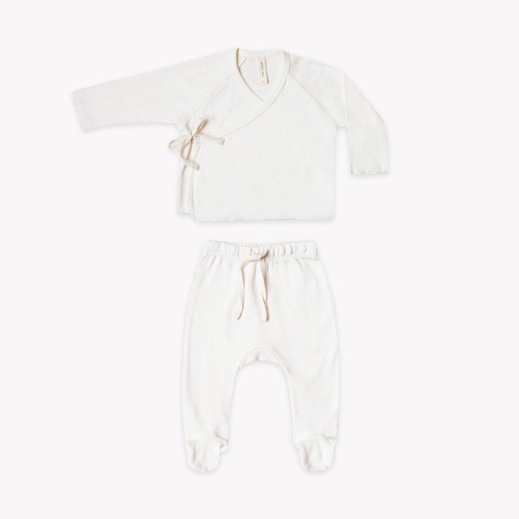 Quincy Mae Kimono Top & Footed pant set