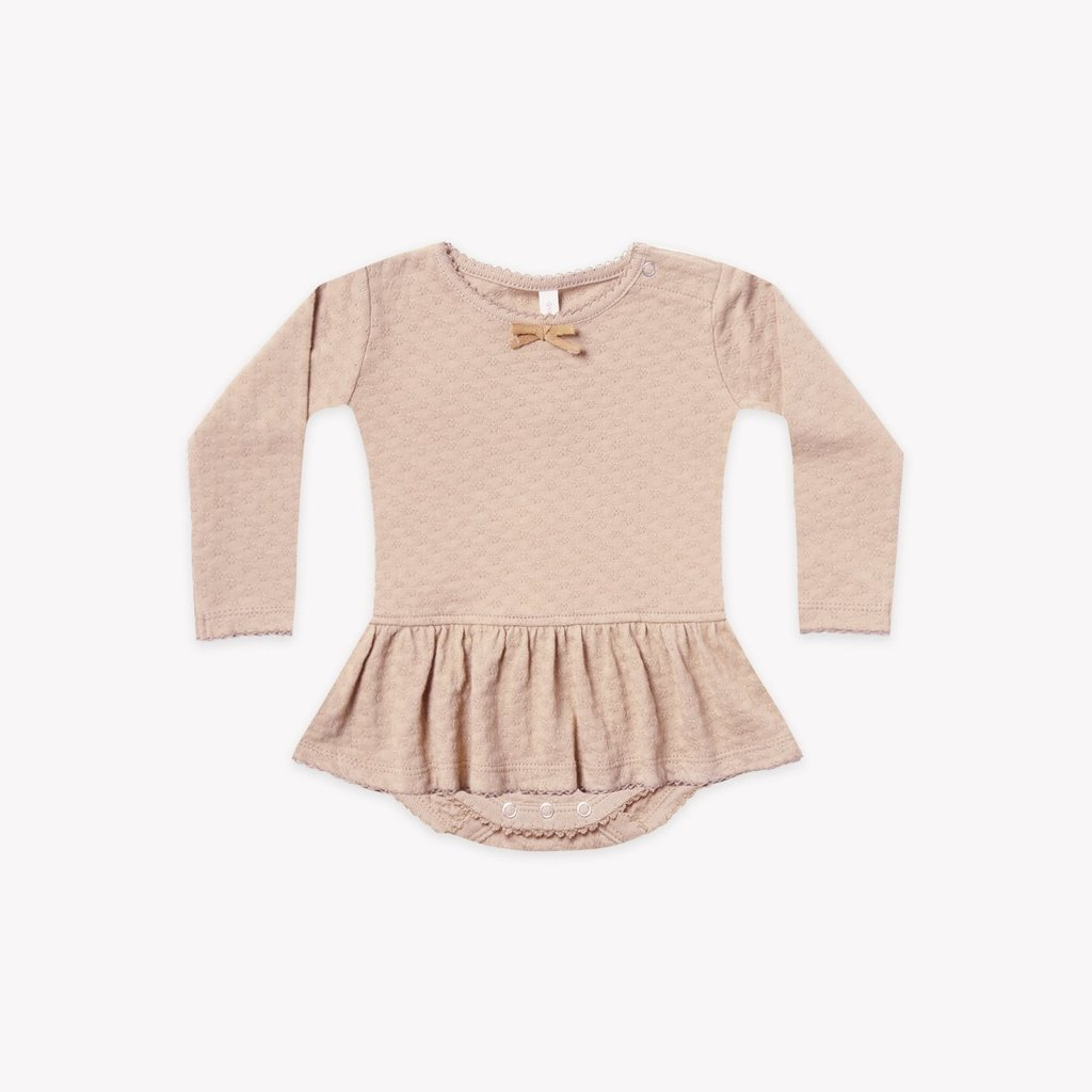 Quincy Mae Pointelle skirted onesie