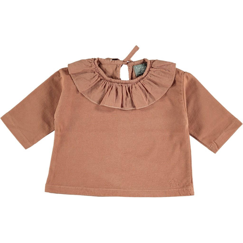 tocoto vintage Tocoto Vintage Baby Collar T-Shirt AW20-W51120