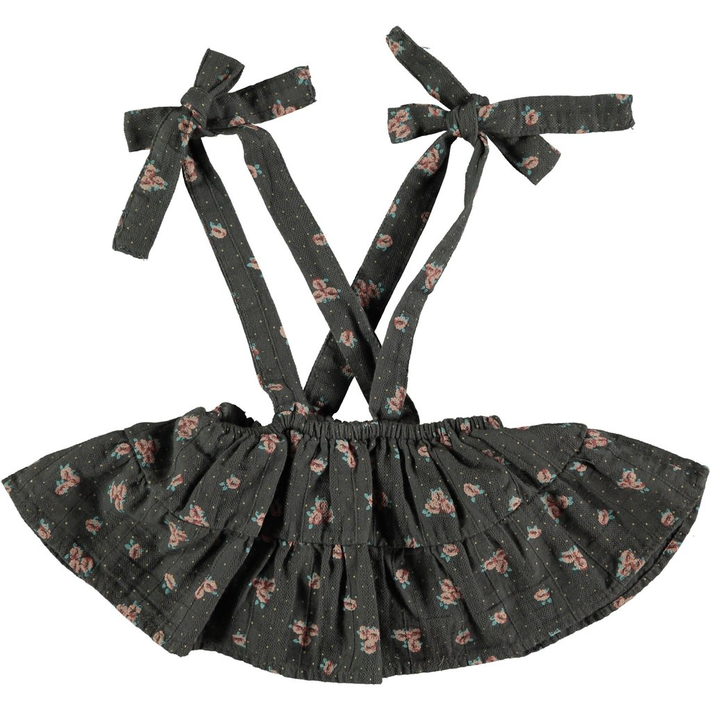 tocoto vintage Tocoto Vintage Flower print skirt with braces AW20-W13120