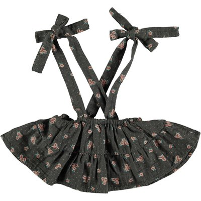 tocoto vintage Flower print skirt with braces