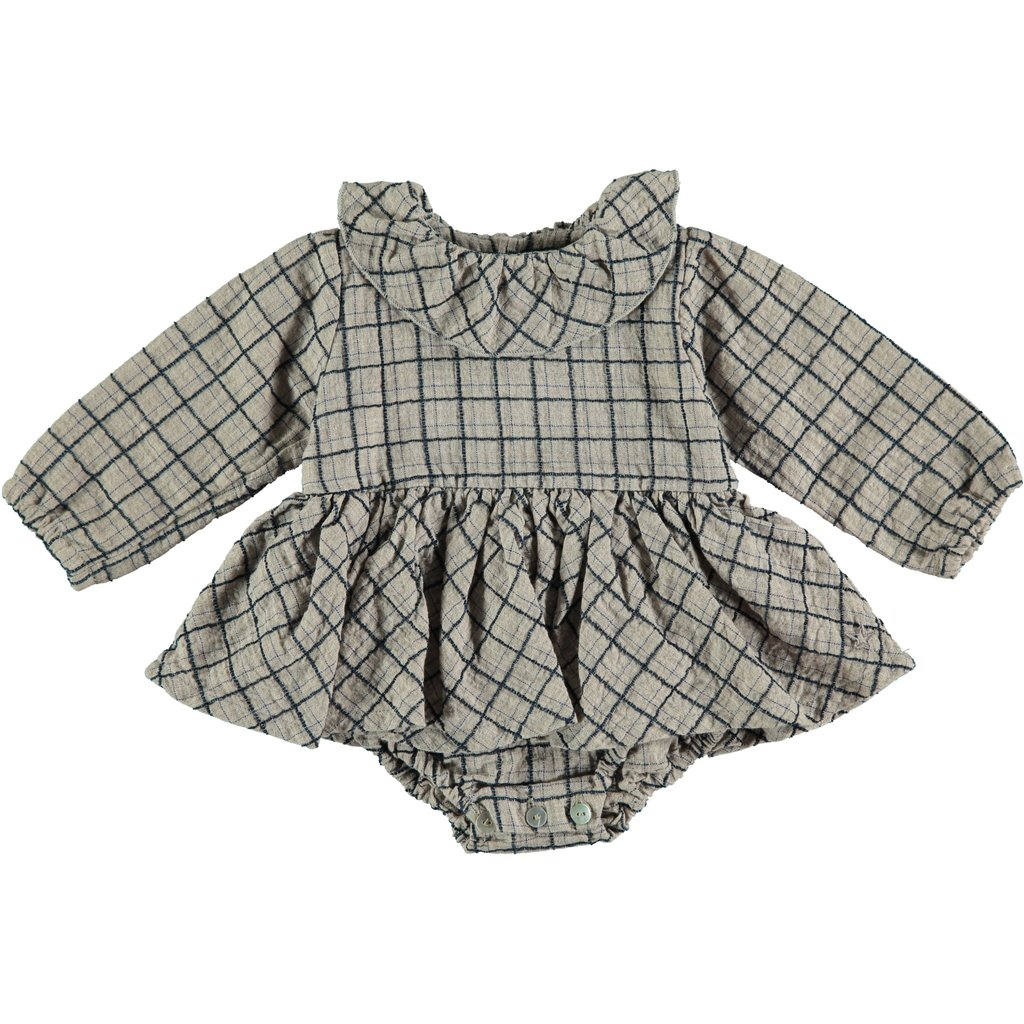tocoto vintage Tocoto Vintage Checkered baby dress AW20-W30720