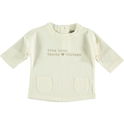 tocoto vintage Tocoto Vintage True Love Baby T-Shirt AW20-W51020