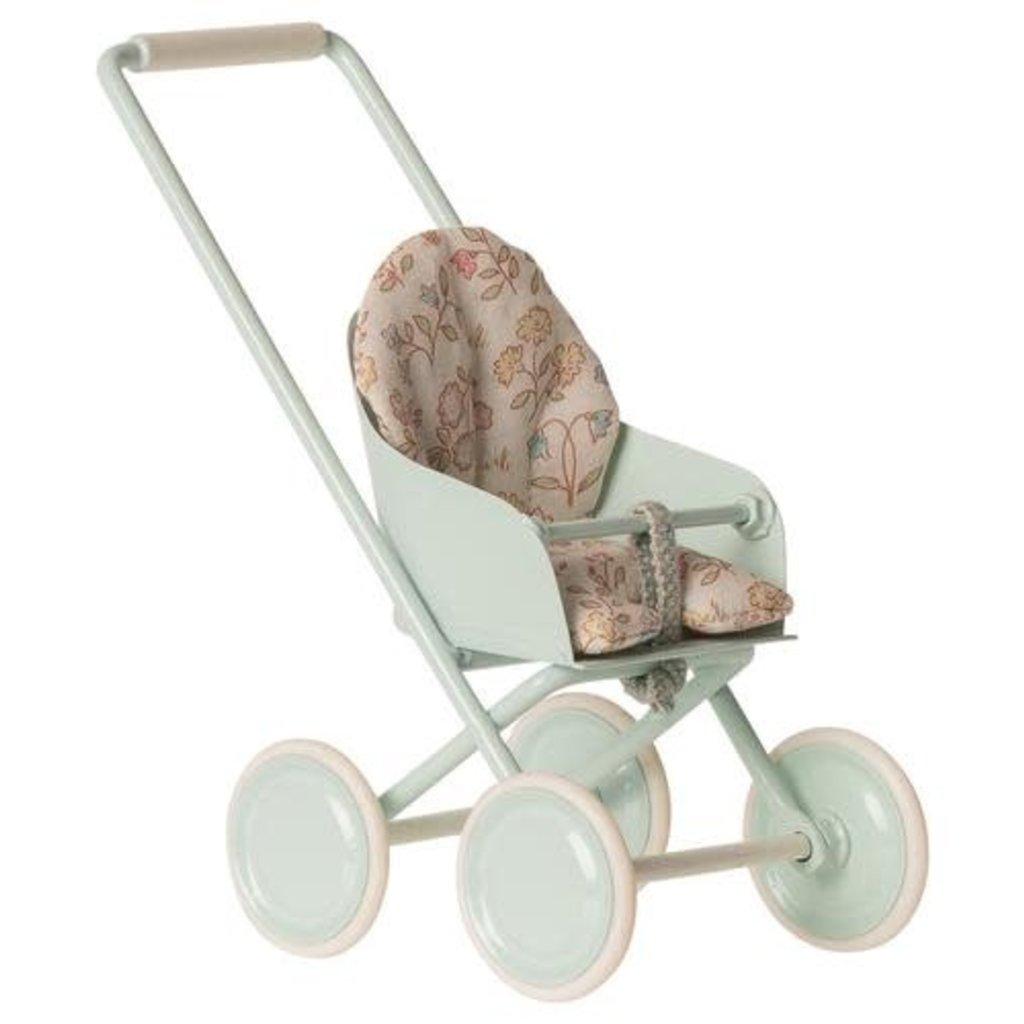 maileg Stroller micro Soft blue