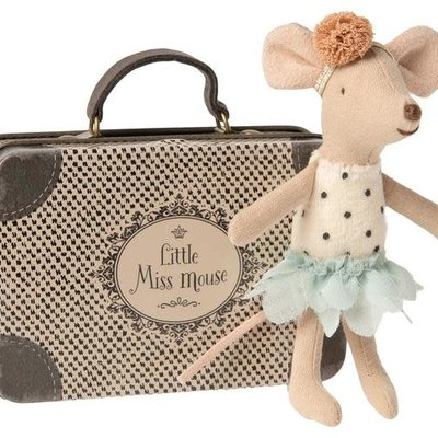 maileg Miss mouse in suitcase